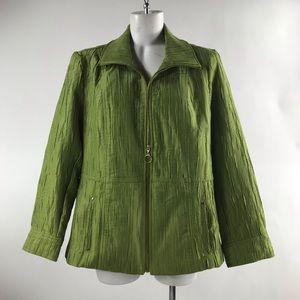 Women's Ntouch green zip up jacket! Size L!